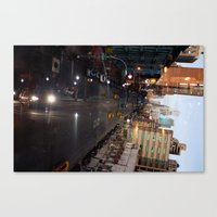 Night Driving Canvas Print