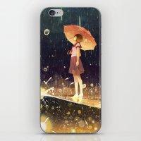 Shower Of Meteors iPhone & iPod Skin