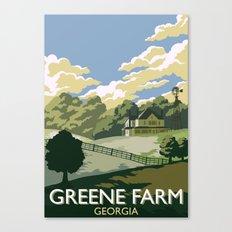 Greene Farm, GA / The Walking Dead Canvas Print