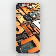 3B - Typography Photography™ iPhone & iPod Skin