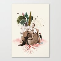 FORGET PAPER Canvas Print