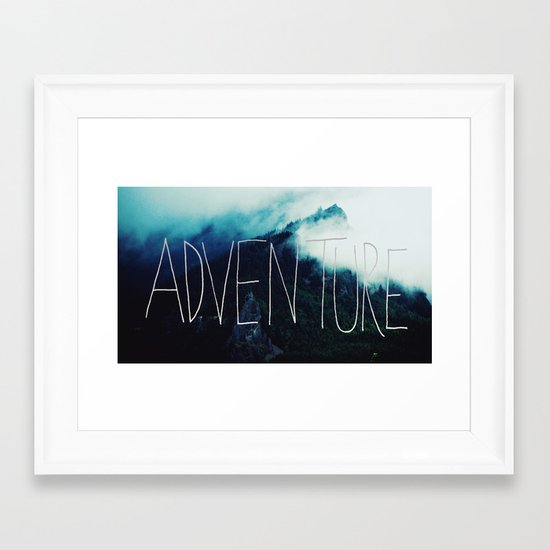 Adventure Mountain Framed Art Print