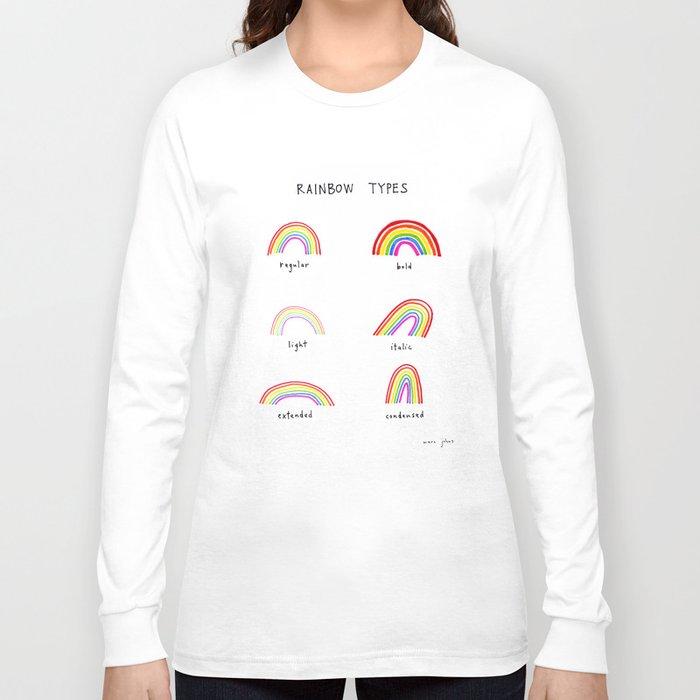 Rainbow Types Long Sleeve T Shirt By Marc Johns Society6
