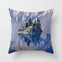 Ghost Ship, Creepy Crater Lake Throw Pillow