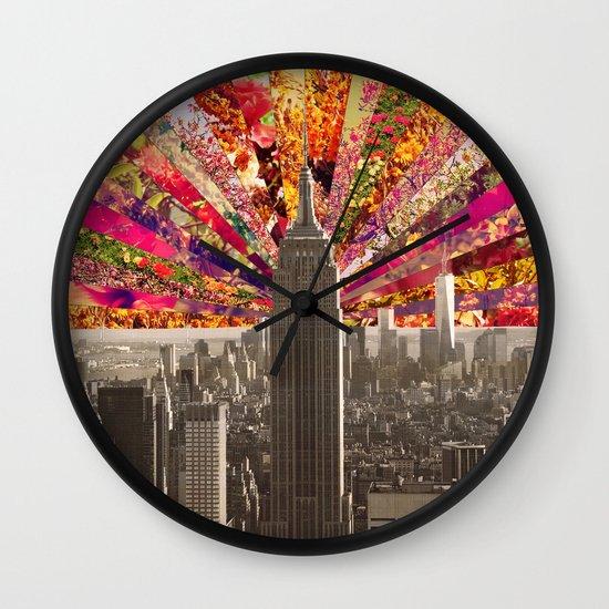 BLOOMING NY Wall Clock