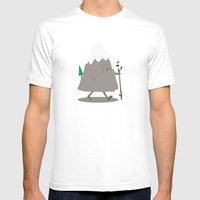 Lil' Hiker Mens Fitted Tee White SMALL