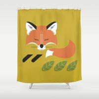 Resting Fox Shower Curtain