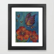 Butterfly Fairy Framed Art Print