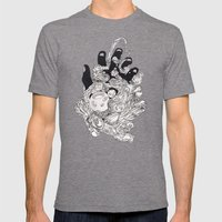Obscure Intentions Mens Fitted Tee Tri-Grey SMALL
