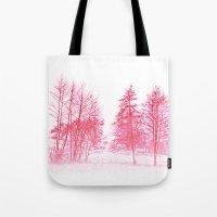 Pink Winter Tote Bag