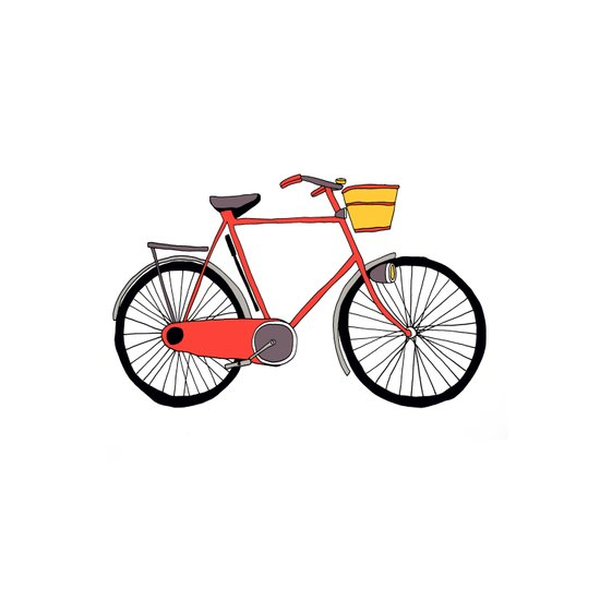Bicycle Number Four Art Print
