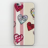 Embroidered Heart Illust… iPhone & iPod Skin