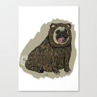 Bear Pug Canvas Print