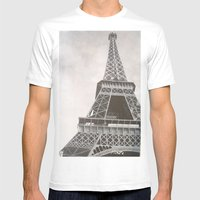 Untitled (Eiffel Tower) Mens Fitted Tee White SMALL