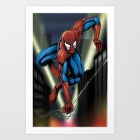 Sharp Spidey Swing Art Print