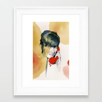 All the Young Dudes Framed Art Print
