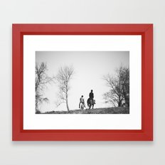Horse Riders Framed Art Print