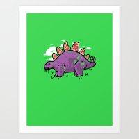 Steakosaurus Art Print