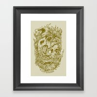 Fall Remains Framed Art Print