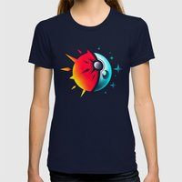 Solis et Lunae Womens Fitted Tee Navy SMALL