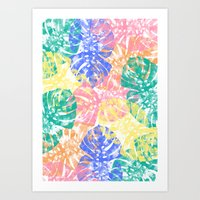 Monstera Tropical Jungle  Art Print