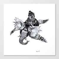 Dompteur d'Elevolant Canvas Print