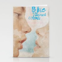 Blue is the warmest colour - chapter one - hand-painted movie poster -  Stationery Cards