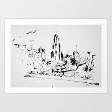 Kavanagh Building in Buenos Aires Art Print