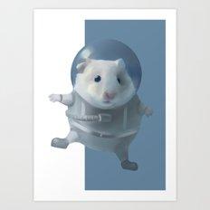 Hamster Astronaut Art Print