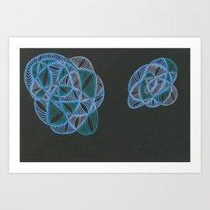 Nebula Twins One Art Print