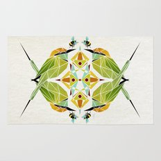 green bee eater  Rug