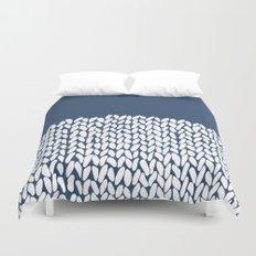 Half Knit Navy Duvet Cover