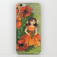 Pretty flowers in a row iPhone & iPod Skin