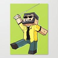 Block Sighted - Minecraf… Canvas Print