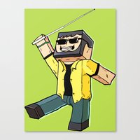 Block Sighted - Minecraft Avatar Canvas Print