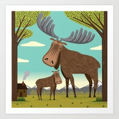 The Magnificent Moose Art Print