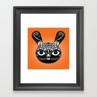 Day Of The Dead Bunny Framed Art Print