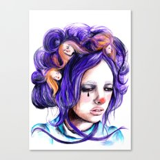 Dolls in her hair, Forest of Dolls Collection Canvas Print