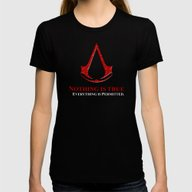 Assassin's Creed Nothing… Womens Fitted Tee Black X-LARGE