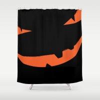 Halloween Pumpkin Face P… Shower Curtain