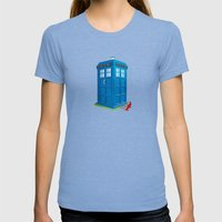 Worlds Collide Womens Fitted Tee Tri-Blue SMALL