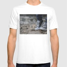 Converse SMALL White Mens Fitted Tee