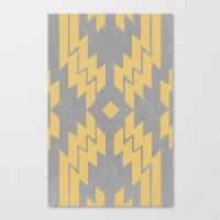 Concrete & Aztec Canvas Print