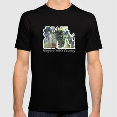 niagara wine country / grapes  / digital painting Black SMALL Mens Fitted Tee