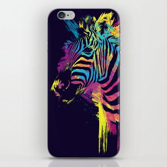Zebra Splatters iPhone & iPod Skin