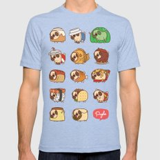 Puglie Food 1 Mens Fitted Tee Tri-Blue SMALL