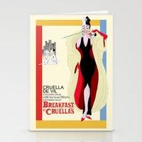 Breakfast At Cruella's Stationery Cards