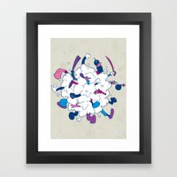 Fistycuffs Framed Art Print