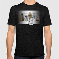 Star Wars Droid Lineup Mens Fitted Tee Tri-Black SMALL