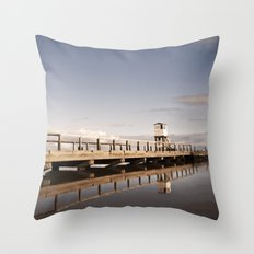 The Holy Island Throw Pillow